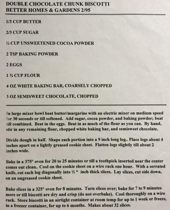 Chocolate Biscotti!