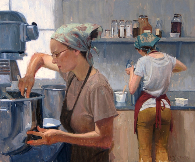 Bakery Girls by Eric Bowman 20x24 Oil