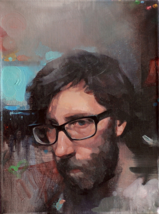 Hamtramck Year One- Portrait of Matt by Felecia Forte 12x16 Oil