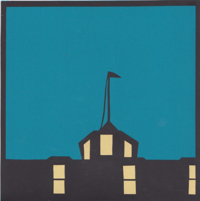 "Inn at Night 8x8"" Papercutting by Dylan Metrano 8x8"