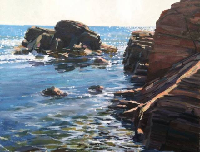Pond Cove Light by Cooper Dragonette 16x20 Oil