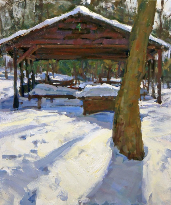 Winter Pavilion 4 by Chad Smith 24x20 Oil