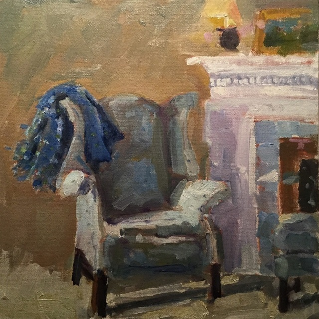Cozy Up by Barb Walker 12x12 Oil
