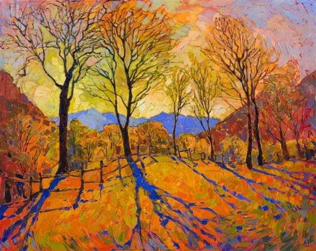 Crystal Dawn by Erin Hanson 50x40 Oil