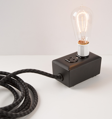 EXTO extension cord and filament bulb by Rejuvenation.com