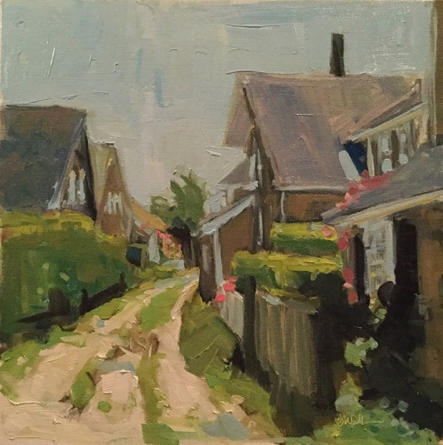 Sconset Lane by Barb Walker 12x12 Oil