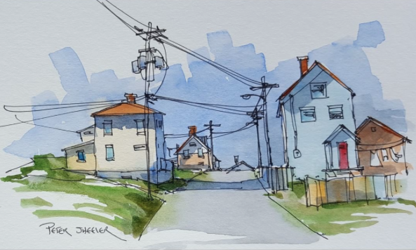 Sketch and Wash by Peter Sheeler