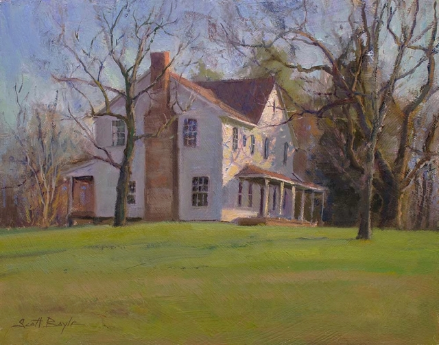 Hoyle Homestead by Scott Boyle 12x16 Oil