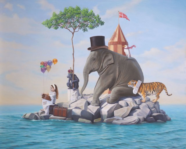 McKenas Bittersweet Departure from the Island of Happiness by Paul Bond 24x30 Oil