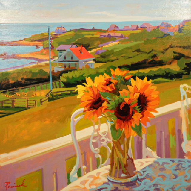 Spring House Morning by Nick Paciorek 48x48 Oil