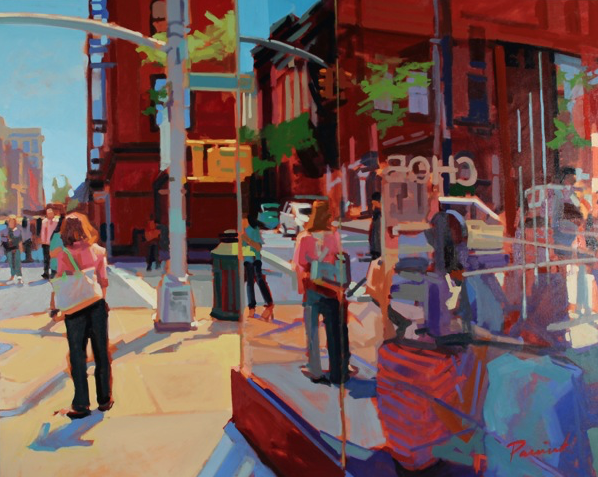 West Broadway Reflect by Nick Paciorek 48x60 Oil