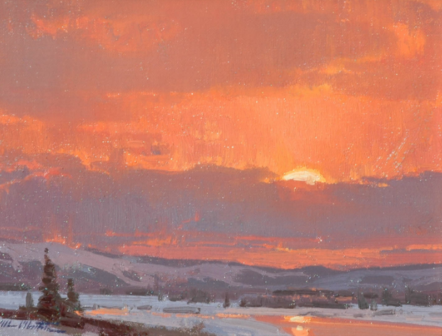 Winter's Warmth by Michael Albrechtsen 8x10 Oil