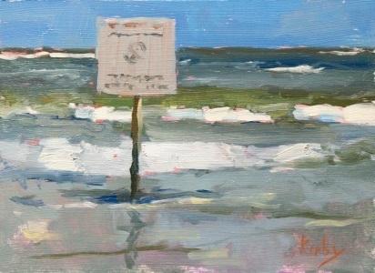 "A Sign by Randall Cogburn 6x8"" Oil"