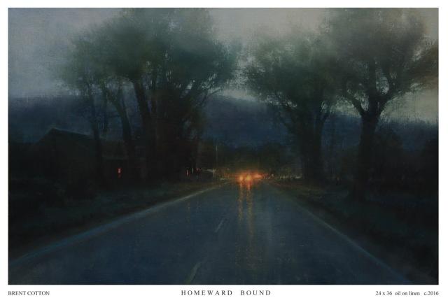 """Homeward Bound by Brent Cotton 24x36"""" Oil"""