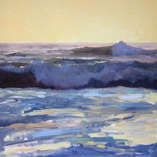 "Sunlit Break by Randall Cogburn 24x24"" Oil [Sold]"