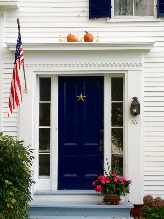 Festive door in Rockport, ME