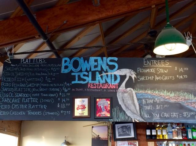 Bowens Island Menu