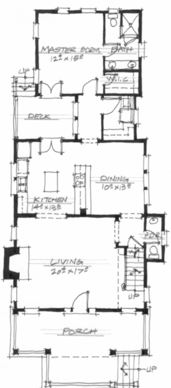 The Chestnut (NC0003) by Allison Ramsey Architect