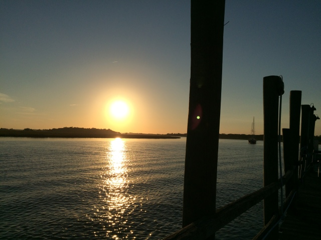Sunset at Bowens Island Restaurant