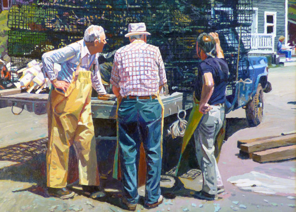 Waiting on the Market by Michael Vermette 33x46 Gleason Fine Art