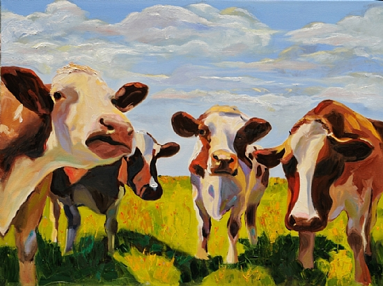 bessy-and-company-by-mary-susan-vaughn-30x40%22-oil-sold