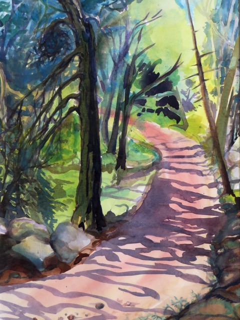 "The Road Home by Kate Chappell 15x11"" Watercolor"