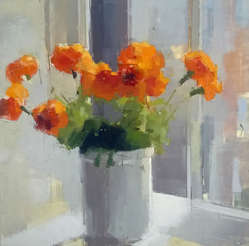 orangeflowers-lisa-brewslow-oil-and-pencil-16x16