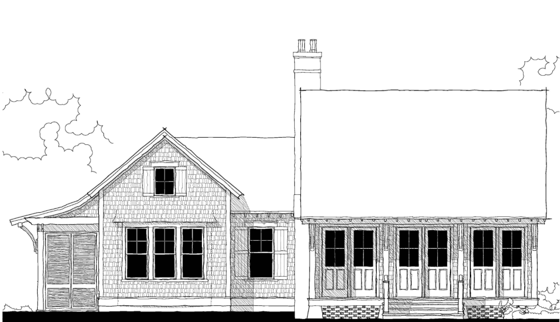 The holiday house plan c0412 by allison ramsey architect for Holiday house plans