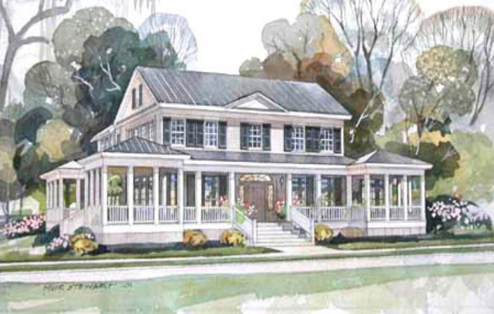 Carolina island house by our town plans for Carolina home designs