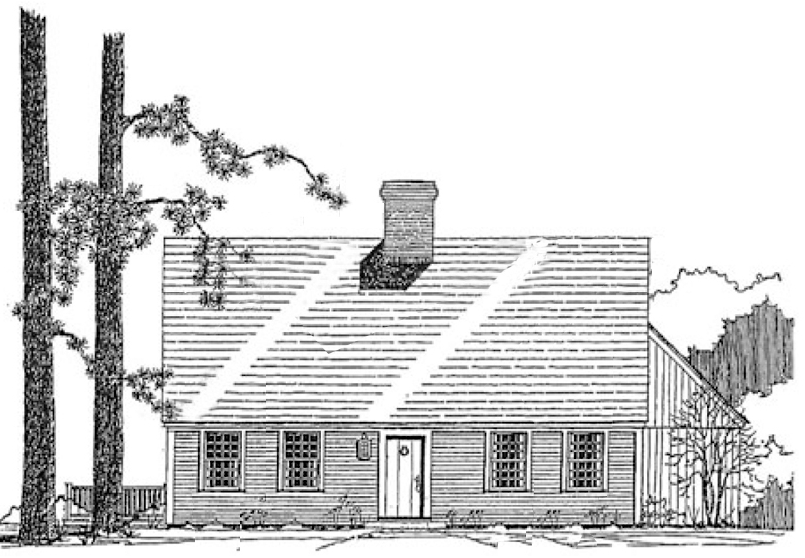 The early cape one house plan by classic colonial homes for Classic colonial home plans