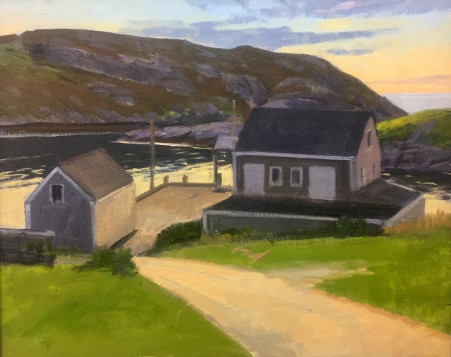 Monhegan Dock Sunset by Kevin Beers 16x20 Oil