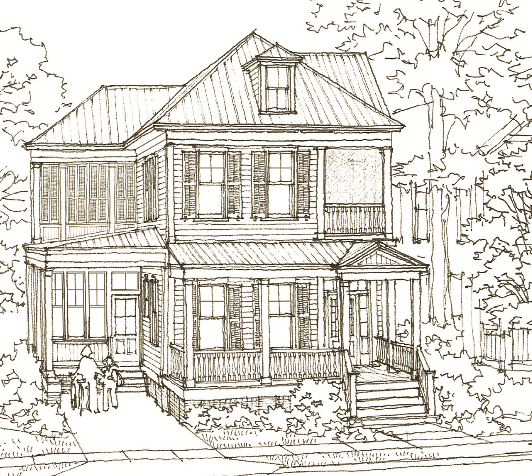 Annapolis court house plan by our town plans for Our town house plans