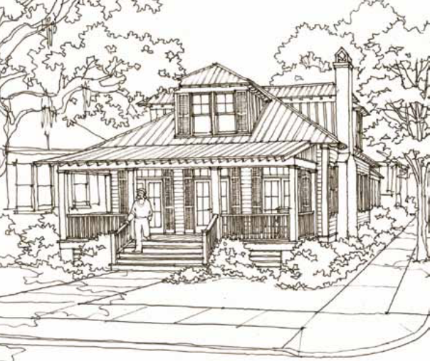 53 bluffton trail house plan by our town plans for Our town house plans