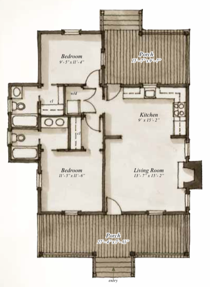 House plan 208 hickory lane by our town plans for Our town house plans