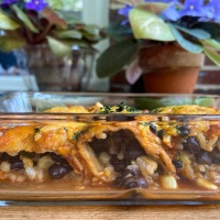 Easy Double Bean and Corn Enchiladas | Recipe from Cait's Plate!