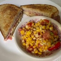A Fabulous Grilled Sandwich & Roasted Corn Salad!
