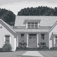 The Corinth House Plan by Lake + Land Design Studio