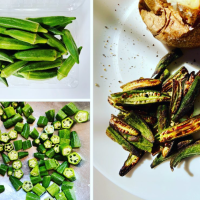 Roasted Okra #gamechanger!