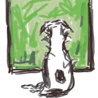 Quick iPad Sketch of Charlie...
